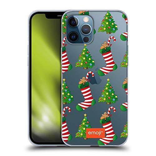 Head Case Designs Offizielle Emoji® Weihnachtsbaum-Strümpfe Winter Wunderland Soft Gel Handyhülle Hülle Huelle kompatibel mit Apple iPhone 12 Pro Max
