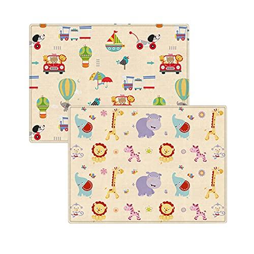 BestSiller Alfombra de juegos para bebés con dibujos animados, alfombrilla de espuma antideslizante engrosada, alfombra grande rectangular para niños pequeños y niños