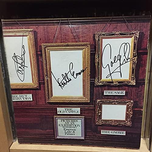 Emerson, Lake & Palmer直筆サイン入りレコード 展覧会の絵 Keith Greg arl キース・エマーソン グレッグ・レイク カール・パーマー US盤