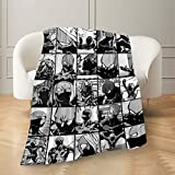 Mha Twice Collage Throw Blanket Flannel Microfiber Soft Comfortable Anti-Pilling Fuzzy Warm Light Weight Adult Children Bed Sofa Couch Travel Quilt Tapestry 60'' X50