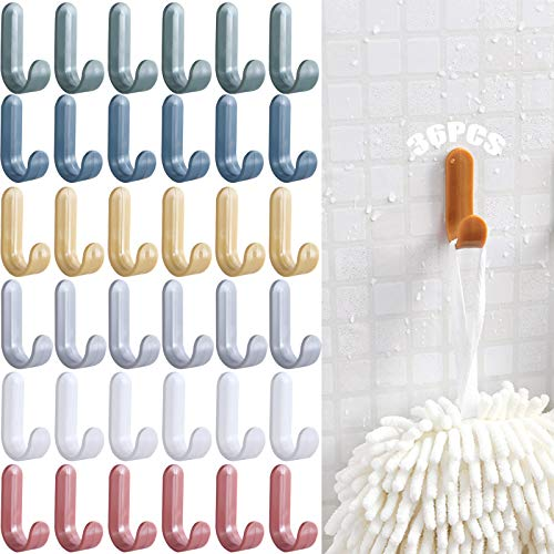Ganci autoadesivi colorati 36 pezzi Ganci appendiabiti Gancio per asciugamani Porta asciugamani da bagno gancio a muro autoadesivo ganci autoadesivi Porta asciugamani da bagno per ufficio cucina
