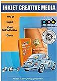 PPD A4 20 Fogli Di Carta Vinile Autoadesiva Lucida Per Stampanti A Getto D'Inchiostro Inkjet - Sticker Bianco - PPD-36-20