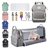 Diaper Bag Backpack, HEATOO Diaper Bag with Changing Station, Portable 3 in 1...
