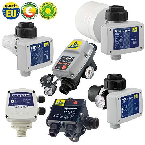 AMUR PRESFLO-2-VARIO® - Pumpensteuerung Druckschalter Druckwächter Automatic-Controller Durchflusswächter verkabelt für Hauswasserwerk, Pumpe Brunnenpumpe, Kreiselpumpe, Tauchpumpe, Tiefbrunnenpumpe