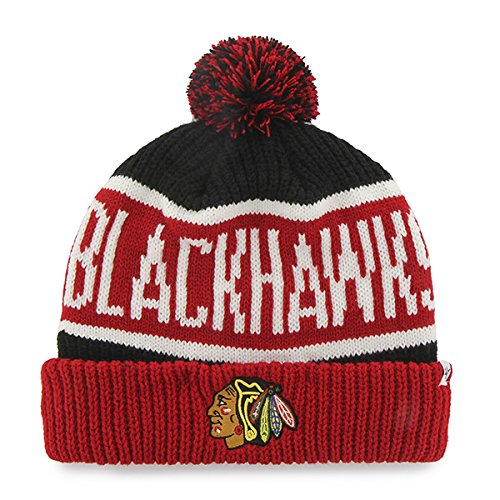 0dbb3caf0e91d4 '47 Brand Calgary Cuff Beanie Hat with POM POM - NHL Hockey Cuffed Winter  Knit. '