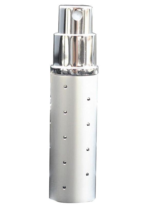 5mlポータブル詰め替え可能な香水アトマイザー空スプレーボトル[シルバー]