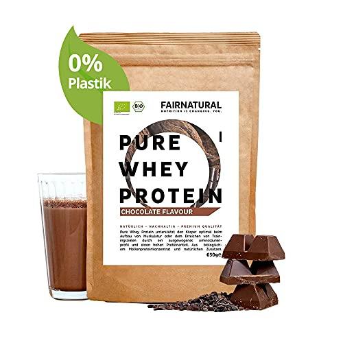 Proteína Whey en polvo de Suero ORGANICA Chocolate sin soja - Batidos de proteína'certificado orgánico' 650g Organic Whey Protein