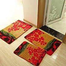 Handmade Doormat for Floor Bathroom Cheap Non-Slip Bath Mats Home Decor Bathroom Mat Absorbent Slip-Resistant Pad Bath Mat...