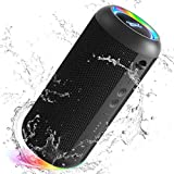 Torteco E8-L Portable Bluetooth Speaker with Gradient Light, Bluetooth 5.0, Bassup, IPX65 Waterproof, 20-Hour Playtime, Wireless Stereo Dual Pairing, Speaker for Home, Outdoors, Travel