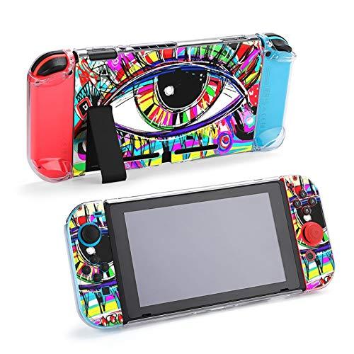 Foco Digital Pintura Ojo Humano Funda acoplable para Nintendo Switch, Funda Protectora para Nintendo Switch