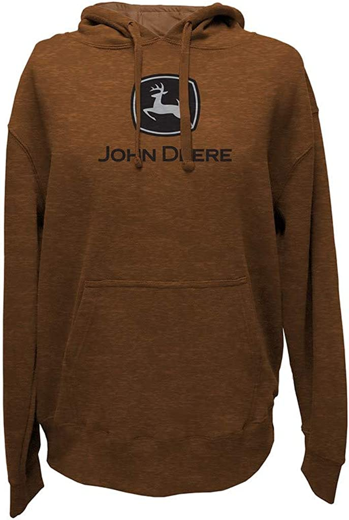 Phoenix Mall John Deere Mens New Orleans Mall Black Hooded Logo Sweatshirt