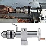 Mini trapano a mano, preciso centro girevole in tensione con chiave per mini tornio lavorazione del legno fai da te