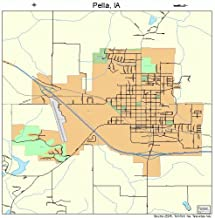 Large Street & Road Map of Pella, Iowa IA - Printed poster size wall atlas of your home town