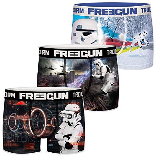 FREEGUN Star Wars Herren Boxershorts Funny Stormtrooper Krieg der Sterne Meme Druck 3er Pack S M L XL XXL, Größe:XL, Farbe:Motivmix 5