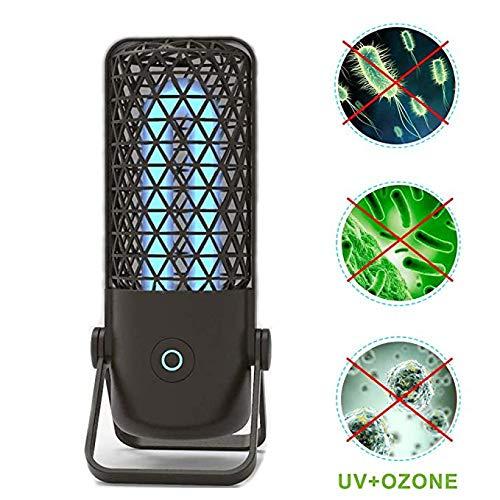 Ultraviolette Keimtötende Lampe Desinfektionslampe tragbar UV Home Travel Sterilisationslampe antibakteriell UV Luftreiniger UV-C Mobiler Raum-Sterilisator Schwarz