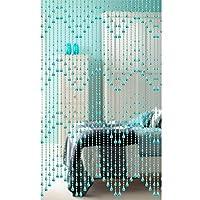 GDMING 波 ビーズカーテン 出入り口 デコレーション ドアストリングカーテン 窓 壁パネル 間仕切り アクリル ビーズ 鎖 リビングルーム クローゼット 、カスタマイズ可能 (Color : Blue, Size : 34 strands 80x180CM)