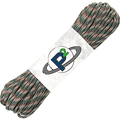 PARACORD PLANET 100' Hanks Parachute 550 Cord Type III 7 Strand Paracord Top 40 Most Popular Colors (Woodland Camo)