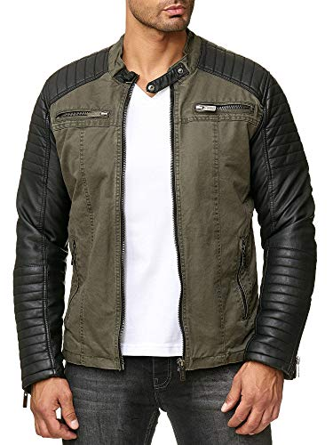 Red Bridge Hommes Veste Similicuir Biker Occasionnels...