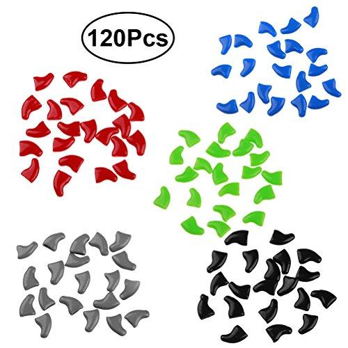 UEETEK Caps Nägel für Pfoten Katze Metallpfosten, zu Krallen Schutz Verschiedene Farben 120pcs
