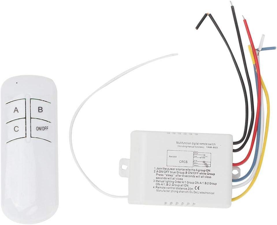 Interruptor remoto de pared, interruptores de luz remotos ENCENDIDO/APAGADO Práctico para luces de techo para luz LED para ventiladores