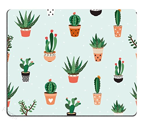 Succulents Cactus Mouse Pad Mousepad Mat - Rectangular - Computer Accessories Custom Desk Coworker Gifts Office Gifts