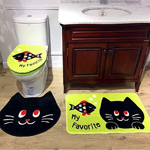 YSDDM badmat 4 Stks/Set Mooi cadeau Cartoon Badkamer Niet slipToilet Set Cover Kawai Warm Pluche Toilet Seat Badmat Wasbaar O Ring-in Toilet Stoelhoezen
