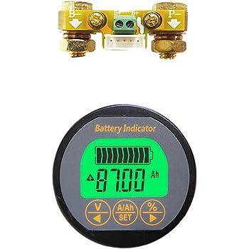 AiLi Battery Monitor Voltmeter Ammeter Voltage Current Meter 8-80V 0-100A Auto Car Motor Boat Caravan RV Motorhome