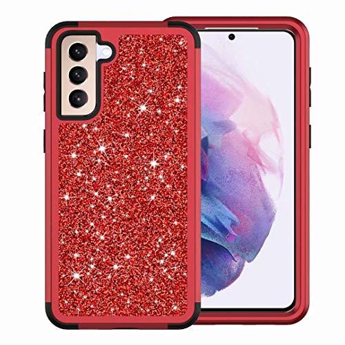 Funda para iPhone X, iPhone X, doble capa, transparente, brillante, brillante, suave, flexible, TPU para mujeres y niñas, ajuste delgado, a prueba de golpes, para iPhone X, color rojo