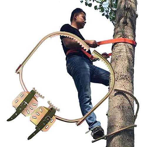 JIEJIE Pole Climbing Spikes, Elektriker-Fuß-Schnalle, Baum Kletterausrüstung for Baumarbeiten, Korrosionsschutz, Verschleißfestigkeit, einfache Früchte zu pflücken, 450 mm / 17,7 Zoll QIANGQIANG