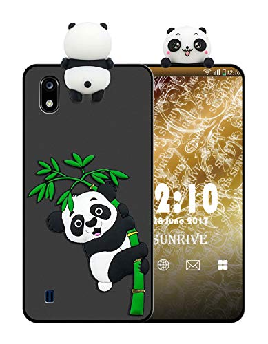 Sunrive Für ZTE Blade A530 Hülle Silikon, Handyhülle matt Schutzhülle Etui 3D Hülle Backcover für ZTE Blade A530(W1 Panda 2) MEHRWEG+Gratis Universal Eingabestift