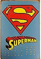 アメリカ雑貨 ブリキ看板 屋内用 ヴィンテージ風 レトロ風 雑貨 コミック ヒーロー スーパーマン ポスター