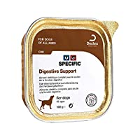 Dietary food for treatment of gastro-intestinal conditions in dogs. Ensures high digestibility and optimal nutrient absorption. Reduces the production of flatulence and the smell of stools.
