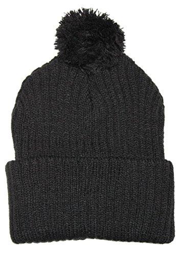 Raphia Art en tricot caniche muetze dans de nombreuses couleurs - Noir - Taille Unique