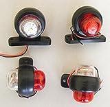 Luz LED de posición lateral y trasera para camión, bus, caravana o furgoneta, 4unidades, 12V, color blanco y rojo