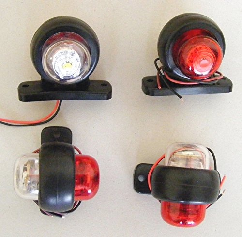 4 pièces 12 V Blanc/Rouge LED arrière Marqueur Bus Camion SUV Bus Remorque Caravane Van