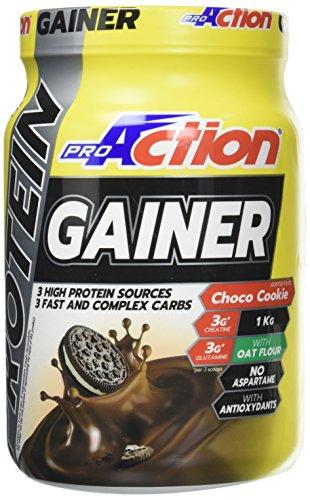 ProAction Protein Gainer (Ciocco Biscotto, Barattolo da 1 kg)