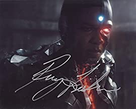 RAY FISHER as Victor Stone / Cyborg - Justice League GENUINE AUTOGRAPH