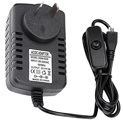 TXX para Pi 3 B + / 3b / 3a + Au 100v-240v 5v 3a Adaptador De Corriente Micro USB con Interruptor