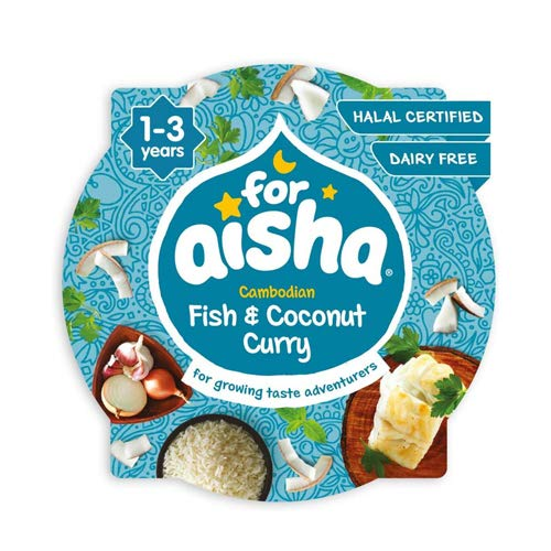 For Aisha Cambodian Fish & Coconut Curry for 1-3 Years, 230 g