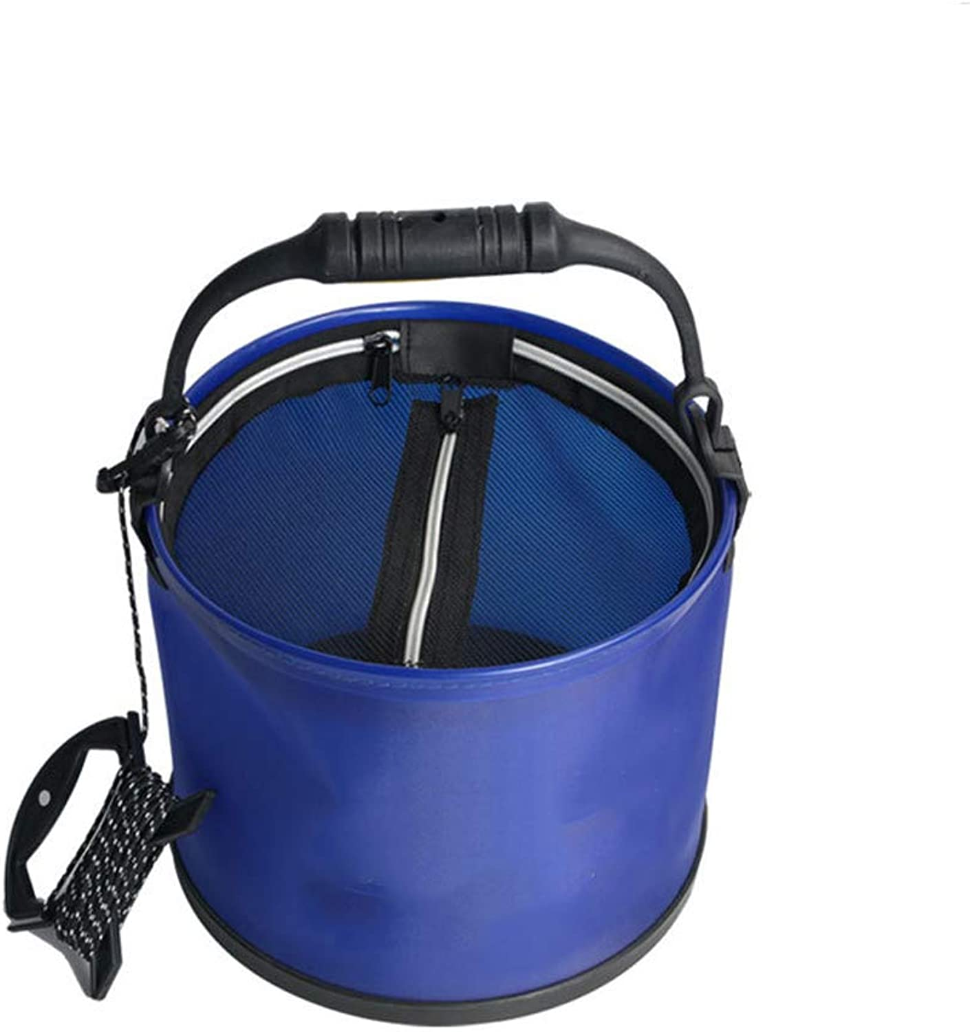 Portable Fish Bucket Foldable Fabric Folding Bucket Water Storage Container Carrier Bag for Fishing