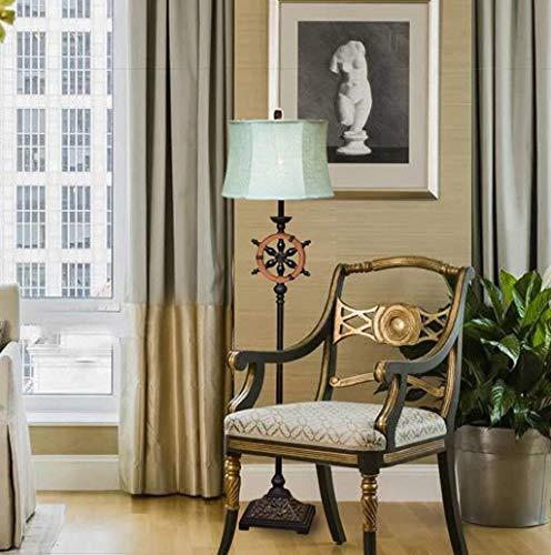 GYW-YW Suelo de uplighter Lámparas de pie, Escultura llevada creativa Winslet serie de resinas Mediterráneo americano País retro tela de algodón Lámpara de piso, Eye-El cuidado de luz vertical