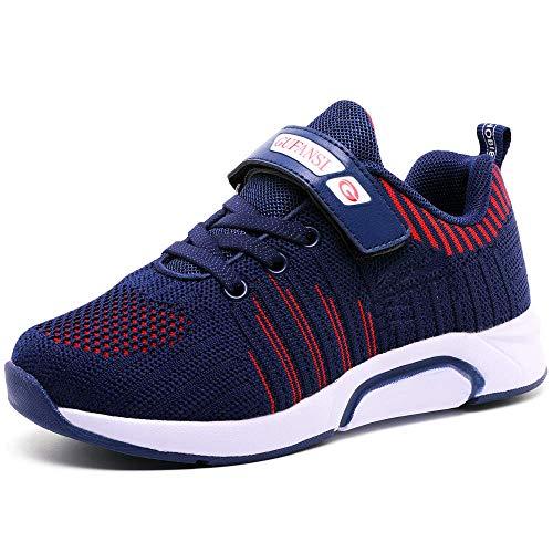 Baskets Enfants Chaussure de Course Fille Sneakers Enfant Garçon Chaussures Scolaire l'École pour Running Shoes Compétition Entraînement Chaussure,Bleu,28EU = 29CN