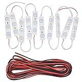 TIMESETL Luz Interior Coche Led, Auto iluminación interior lámpara 30LED Blanco 12 V LED Iluminación trabajo de panel
