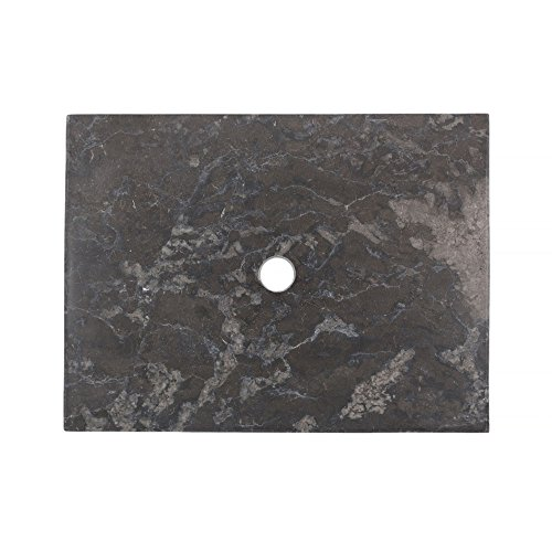 wohnfreuden Marmor Waschtisch-Platte zu Susi Teak Waschtisch schwarz 60x45x3 cm cm Hochglanz poliert ✓ Naturstein-Platte für Waschbecken