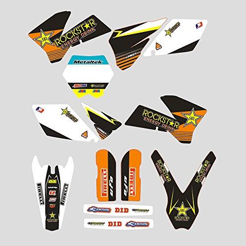 JFG Racing Adhesivo Adhesivo Completo de Motocicletas Personalizadas Pegatinas Kit de Gráficos para K.T.M 125 150 250 350 450 SX SX-F SXF XC XC-F XCF 2005 2006