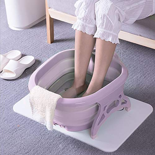 banheira Massageador Para Pés pedicure Portátil bacia dobravel spa relaxamento massagem banho ROXO