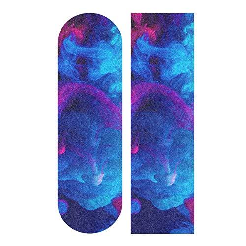 JRDD Skateboard Grip Tape Color Ink Long Boards Grip Tape Non-Slip Grip Tape Sheet Sticker Waterproof Sandpaper Grip Tape 33.1x9.1 Inch Longboard Griptape for Outdoor Recreation