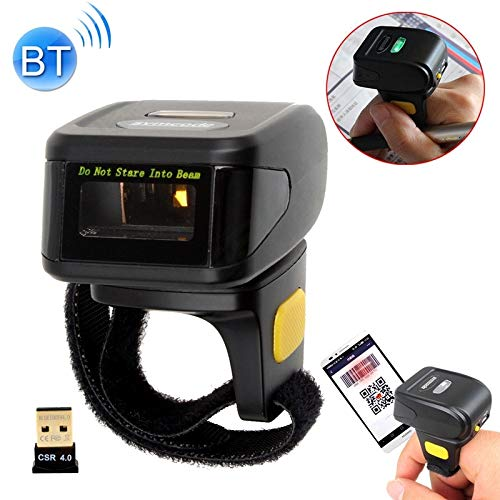 SureShop MJ-R30 Mini Barcode Scanner Ring 1D Portable Wearable Bluetooth Codes Reader
