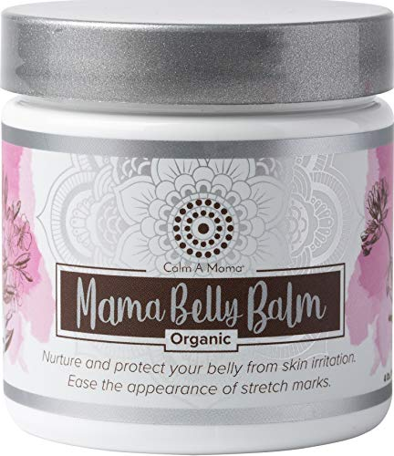 Calm-A-Mama Belly Balm 4 oz. Stretch Mark Cream for Pregnancy. Organic Belly Butter. Prevents and Reduces Stretch Marks. Non-GMO