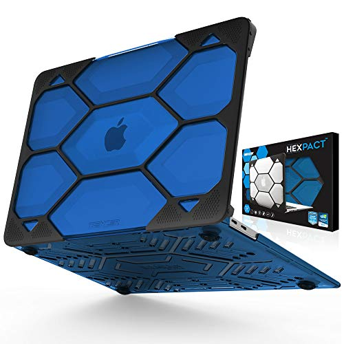 IBENZER Hexpact MacBook Air 13 Inch Case 2020 2019 2018 Release New Version A1932, Heavy Duty Protective Case for Apple Mac Air 13 Retina with Touch ID, Blue, HAT13CYBL